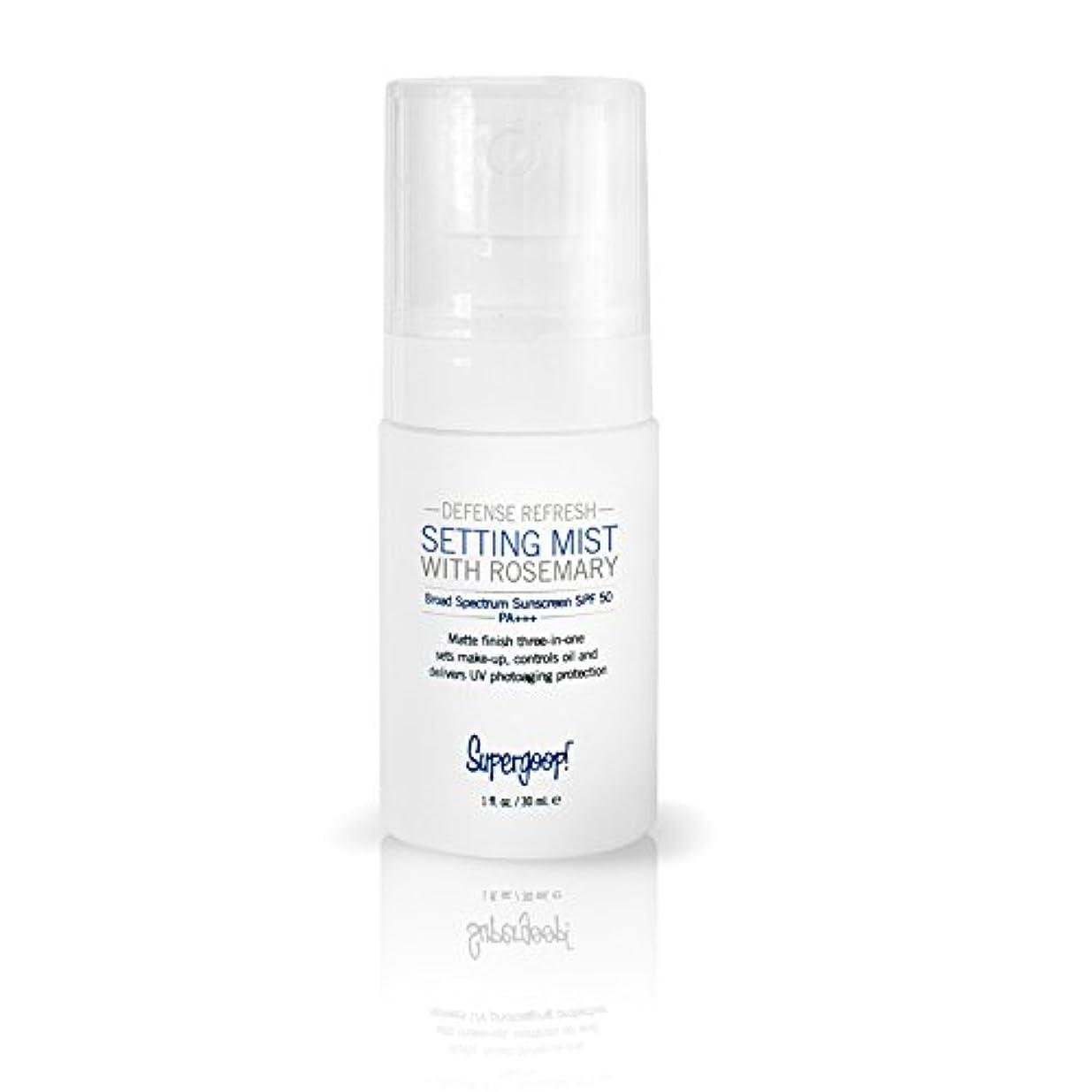 ソフトウェア鉛援助するSupergoop! - Defense Refresh Setting Mist SPF 50 (1 oz.) [並行輸入品]