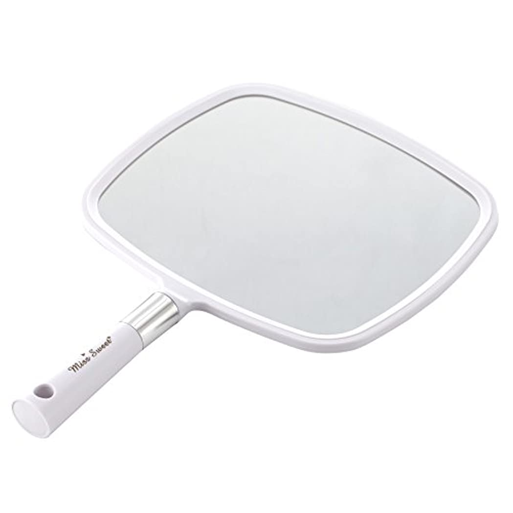 パーティション認める伸ばすMiss Sweet ハンドミラー 1倍大鏡 (白)
