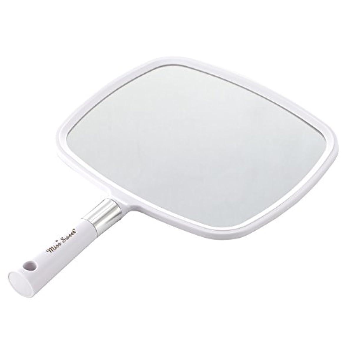 曲線巨大テレビMiss Sweet ハンドミラー 1倍大鏡 (白)
