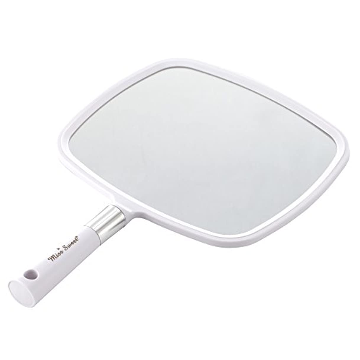 単位広告するトーンMiss Sweet ハンドミラー 1倍大鏡 (白)