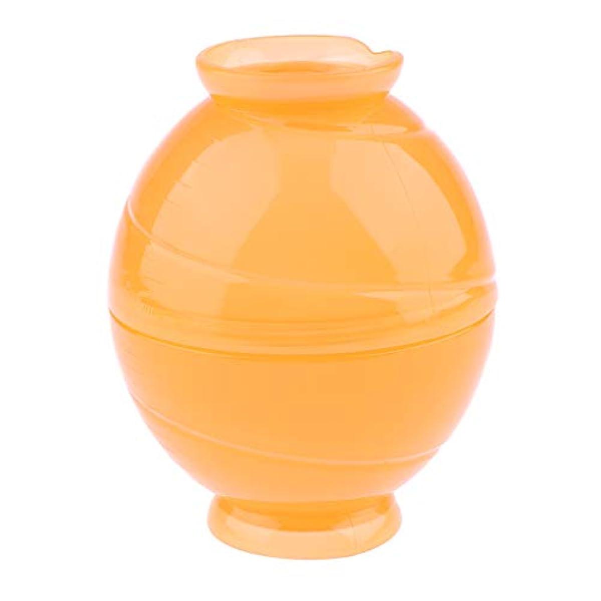美人エンコミウム動機全3色 サロンボウル ヘアカラー用 ミキシングボトル キャンディー形状 - オレンジ
