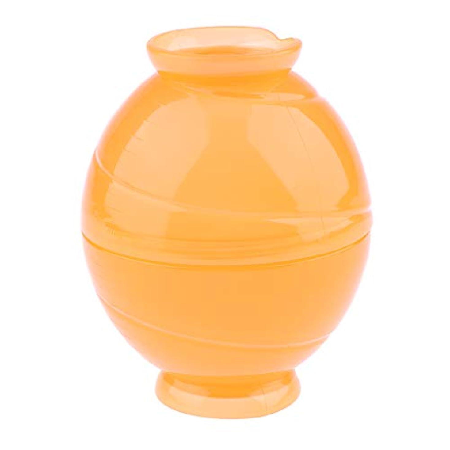 バトル再現するバース全3色 サロンボウル ヘアカラー用 ミキシングボトル キャンディー形状 - オレンジ