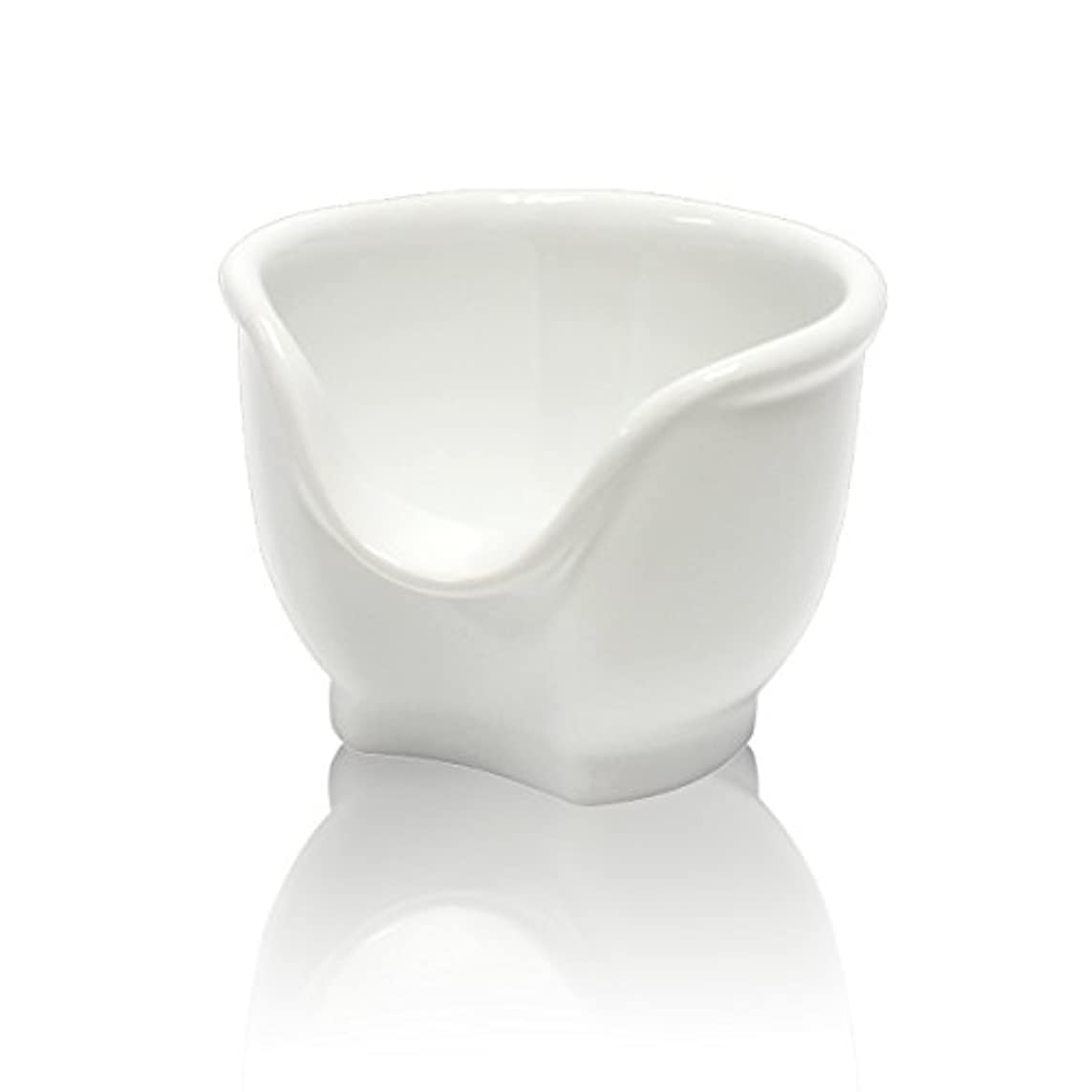 家事をする若さ冷酷なSignstek 磁器製シェービングカップ シェービングボウル 髭剃り石鹸カップ ホワイト