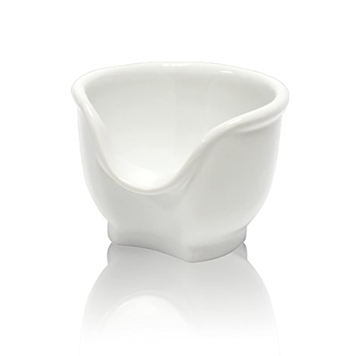 凍った消えるナチュラSignstek 磁器製シェービングカップ シェービングボウル 髭剃り石鹸カップ ホワイト