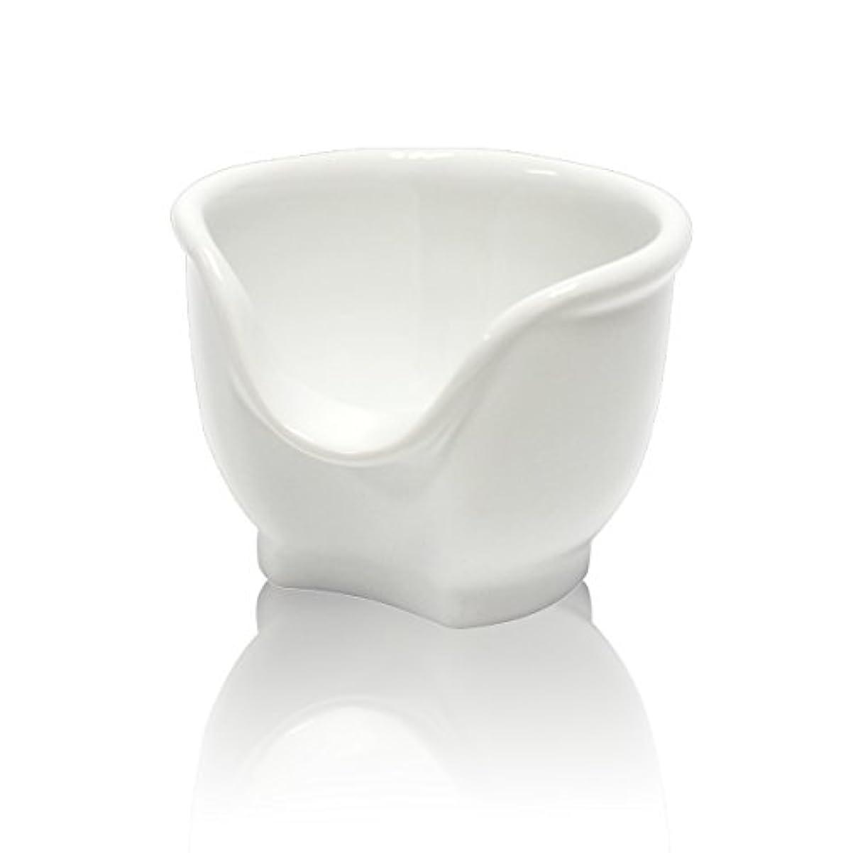 仲介者求人ブラジャーSignstek 磁器製シェービングカップ シェービングボウル 髭剃り石鹸カップ ホワイト