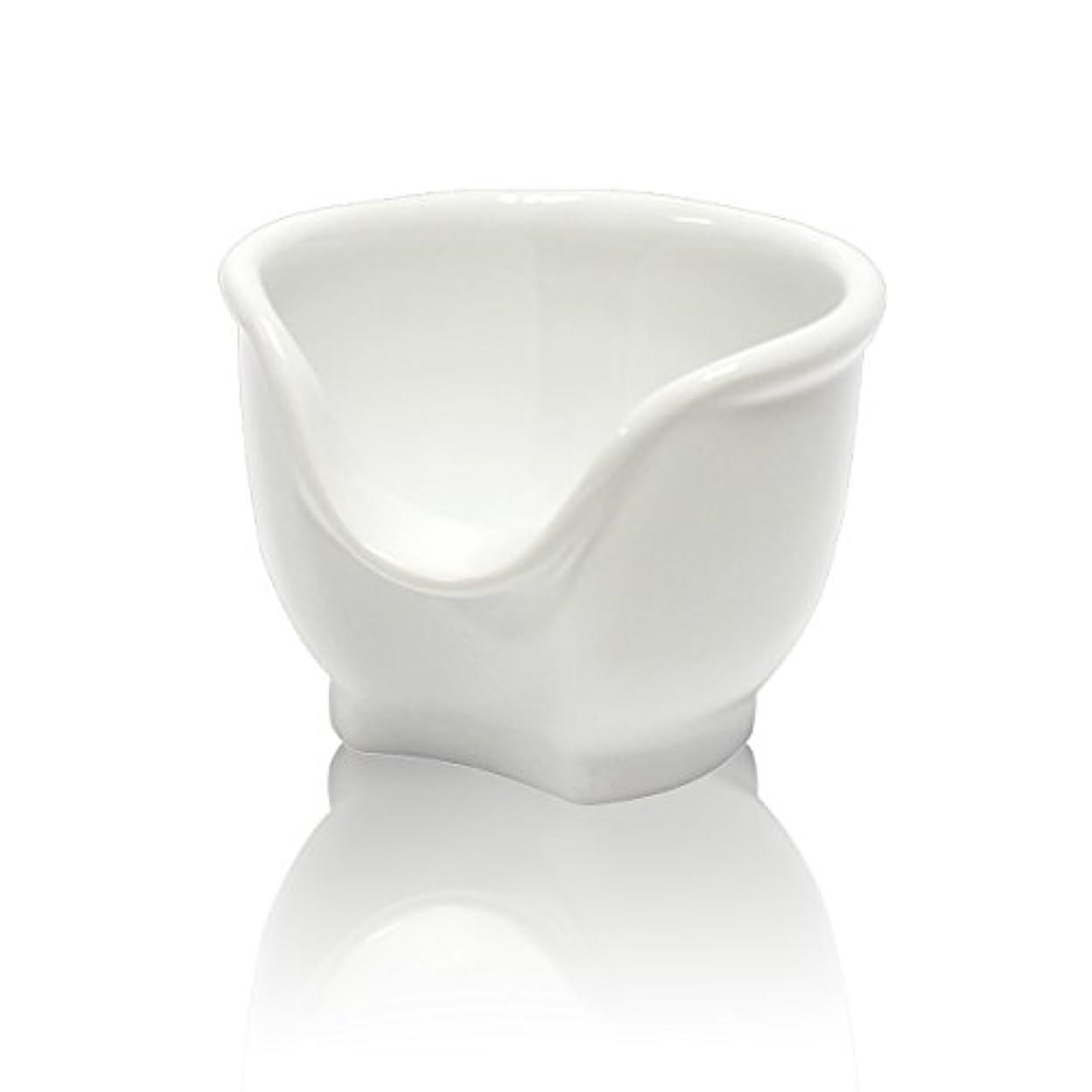 カビ落ち着いた配偶者Signstek 磁器製シェービングカップ シェービングボウル 髭剃り石鹸カップ ホワイト