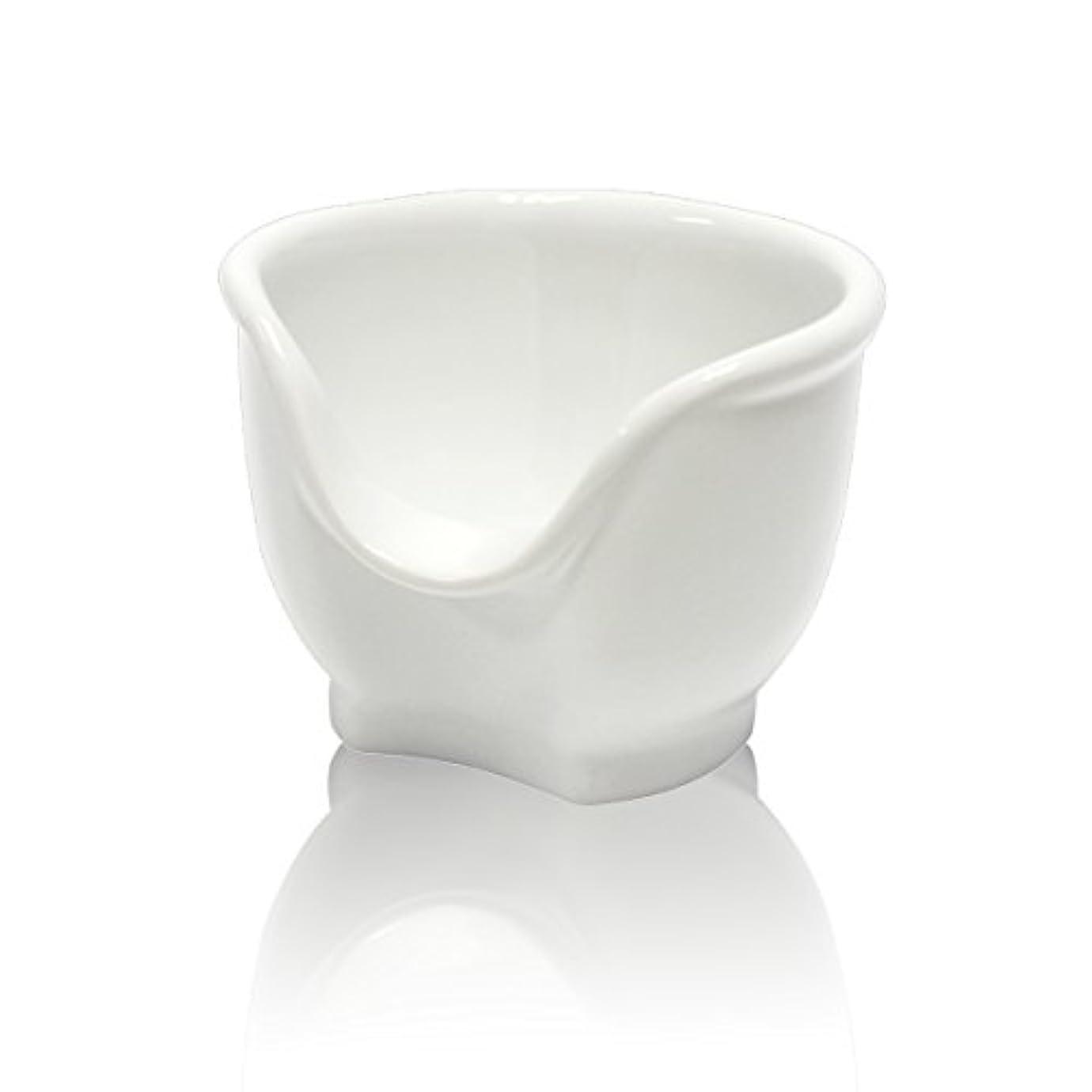 結晶寓話シャンプーSignstek 磁器製シェービングカップ シェービングボウル 髭剃り石鹸カップ ホワイト