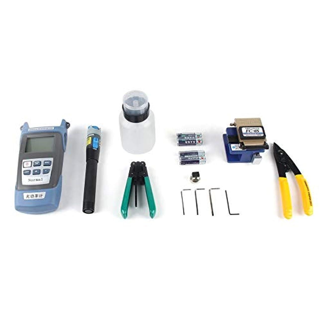 ばかコンチネンタルユーザー光ファイバー冷却ツールセット革ワイヤー光ケーブル光パワーメーター赤ライトペンストリッパーカッターツールボックス