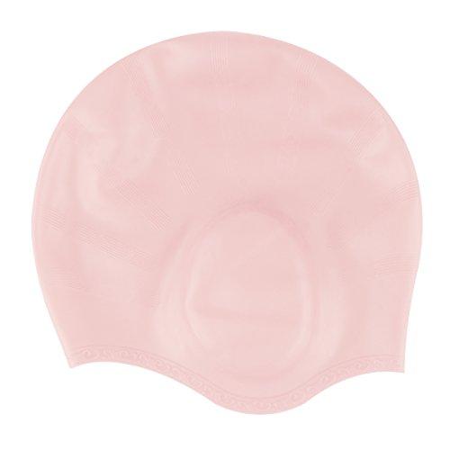 [해외]oenbopo 수영 모자 실리콘 신축성이 뛰어난 방수 캡 남녀 겸용 귀 보호 환경 보호 편안 내구성 수영 모자 모자 3 색/oenbopo swimming cap silicone stretch preeminent waterproof cap unisex dual protection ears protection environmental prote...