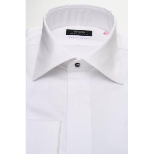 SCHIATTI(スキャッティ)白無地 フライフロント(細身)レギュラーカラー/ドレスシャツ rg2961-3983