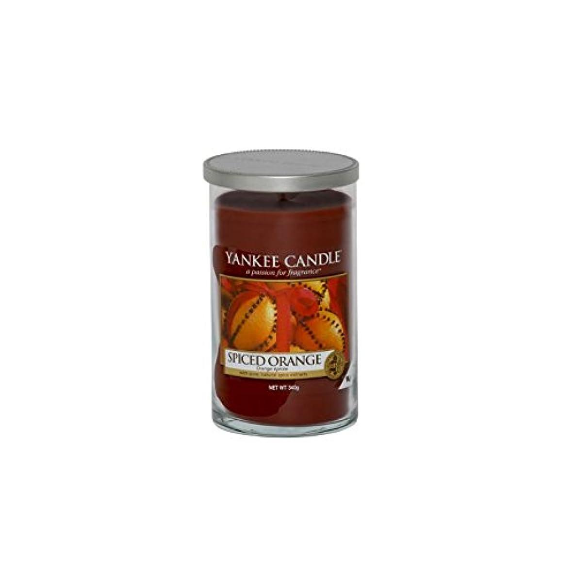 女性排除モールス信号Yankee Candles Medium Pillar Candle - Spiced Orange (Pack of 6) - ヤンキーキャンドルメディアピラーキャンドル - スパイスオレンジ (x6) [並行輸入品]
