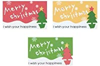 シール メリークリスマス3色セット(12片) (5シート)