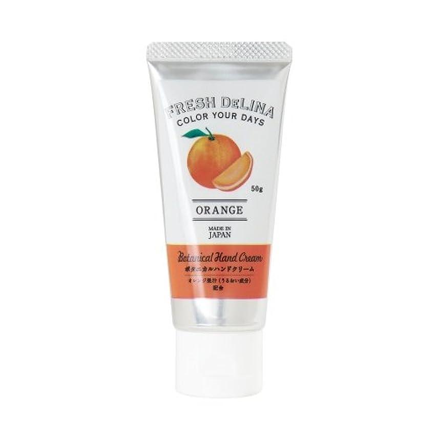 貸す床を掃除するステートメントフレッシュデリーナ ボタニカル ハンドクリーム オレンジ 50g