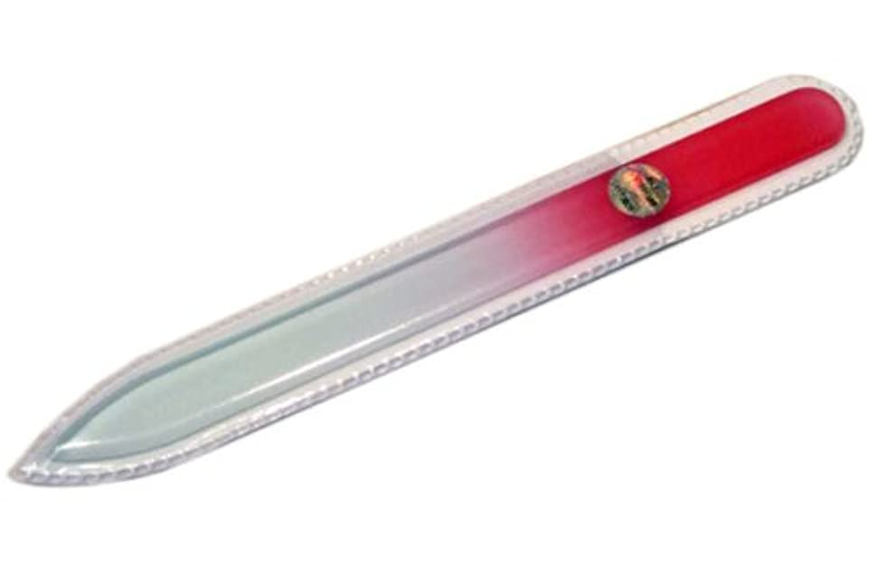 植物学少数財布ブラジェク ガラス爪やすり 140mm 片面タイプ(ピンクグラデーション #07)