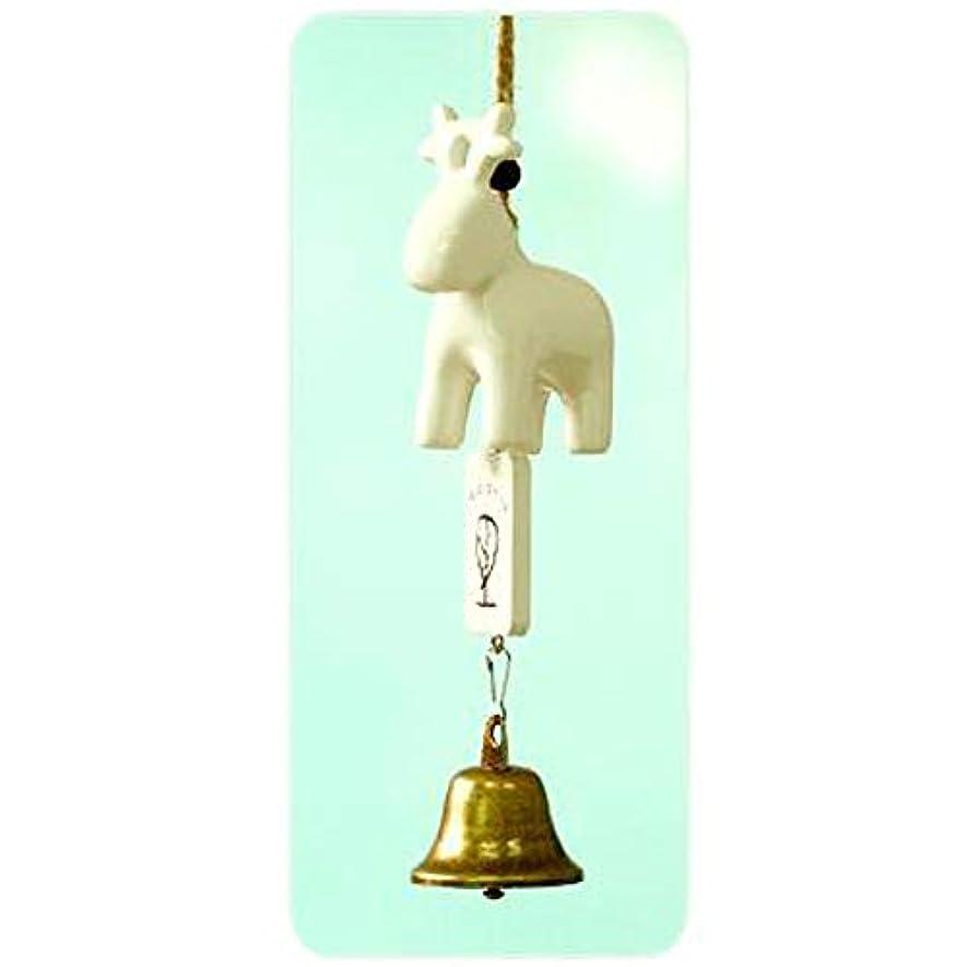 どっちでも処方するショットYougou01 風チャイム、セラミック風チャイム漫画の動物、ホワイト、全長約20cm 、創造的な装飾 (Color : B)