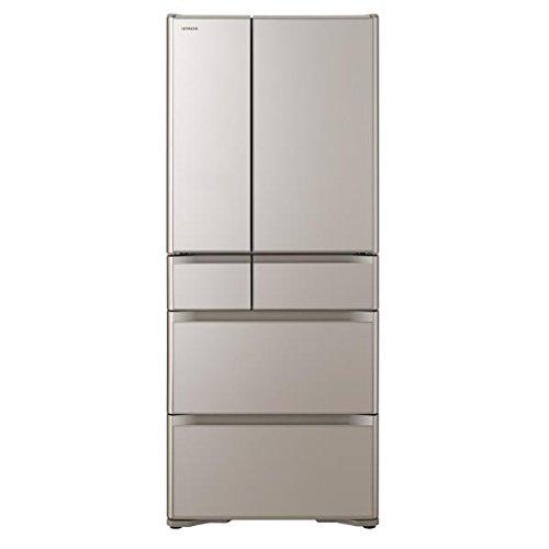 日立 615L 6ドア冷蔵庫(クリスタルシャンパン)HITACHI R-XG6200H-XN