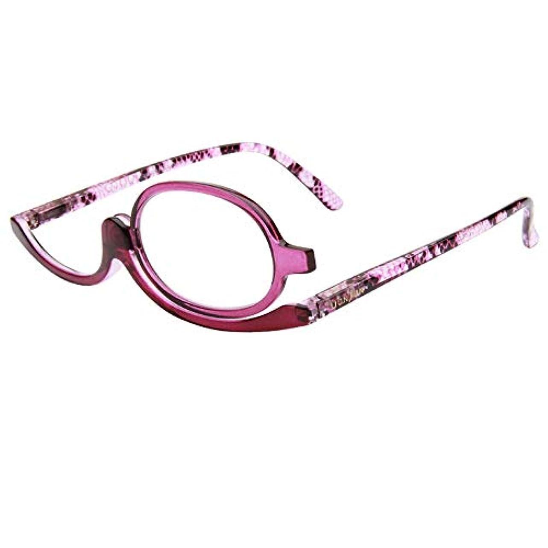 少し割れ目構成Fairyjp 化粧メガネ 老眼鏡 レディース 化粧老眼鏡 メイクアップグラス メイクアップ専用眼鏡 ワンレンズ 化粧拡大メガネ 眉カット用 メイク用 シニアグラス リーディンググラス 女性 プレゼント
