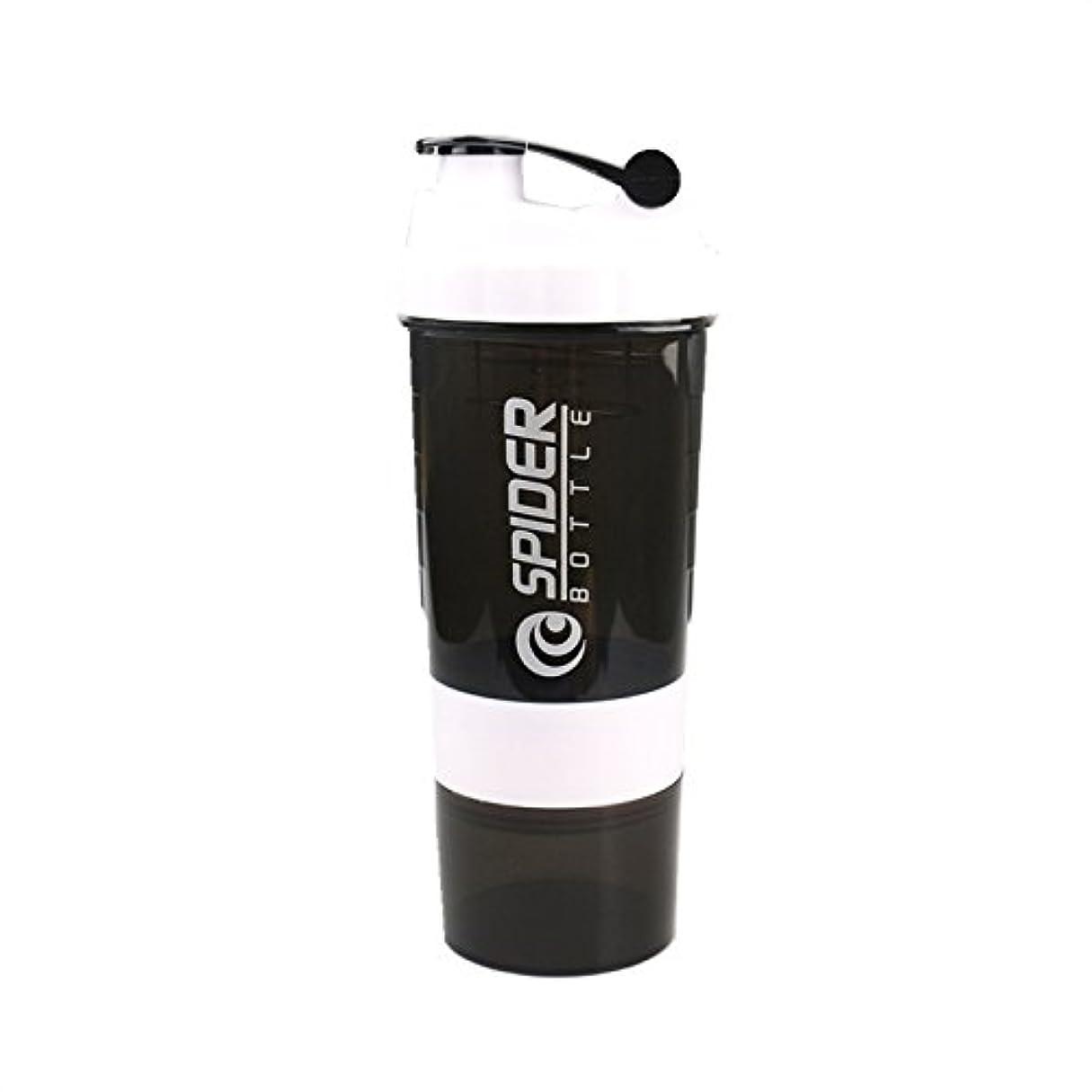 署名不利益真夜中スポーツボトル シェーカーボトル プロテインシェーカー ボトル プラスチック フィットネス ダイエット 直飲み サプリケース コンテナ付き 600ml
