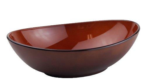 三義漆器 楕円中鉢 漆色内茶釉 5805480