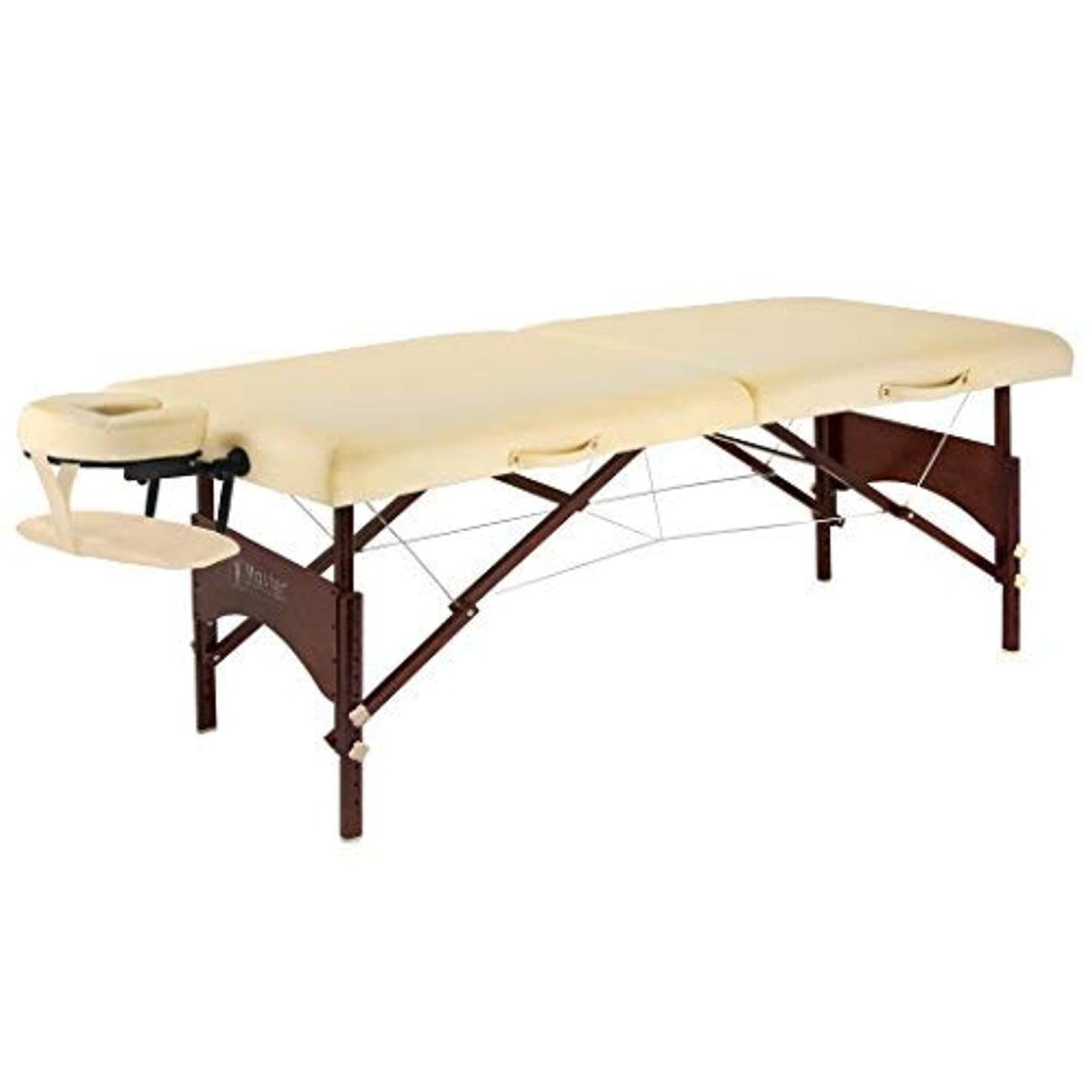 新聞リアルギャザーMaster Massage 28 Argo Portable Massage Table in Cream with Walnut Legs [並行輸入品]