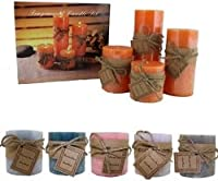 4pc Scented Candle Set–6Asst