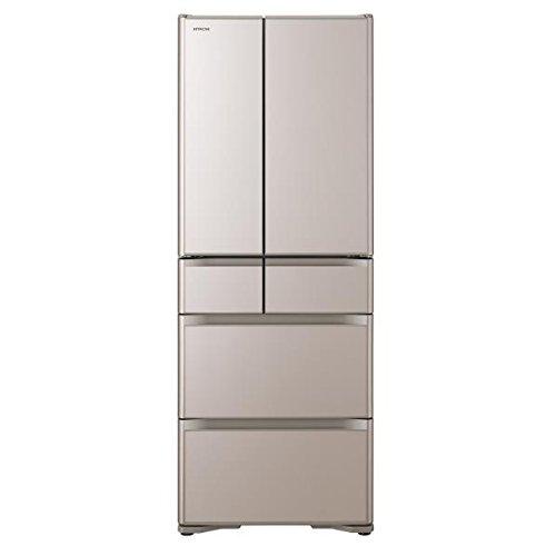 日立 555L 6ドア冷蔵庫(クリスタルシャンパン)HITACHI R-XG5600H-XN