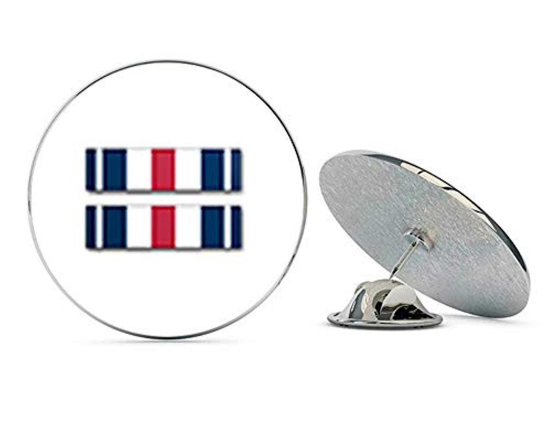 Veteran Pins US Army シルバースターリボンメタル 0.75インチ ラペルハットピン タイタック ピンバック