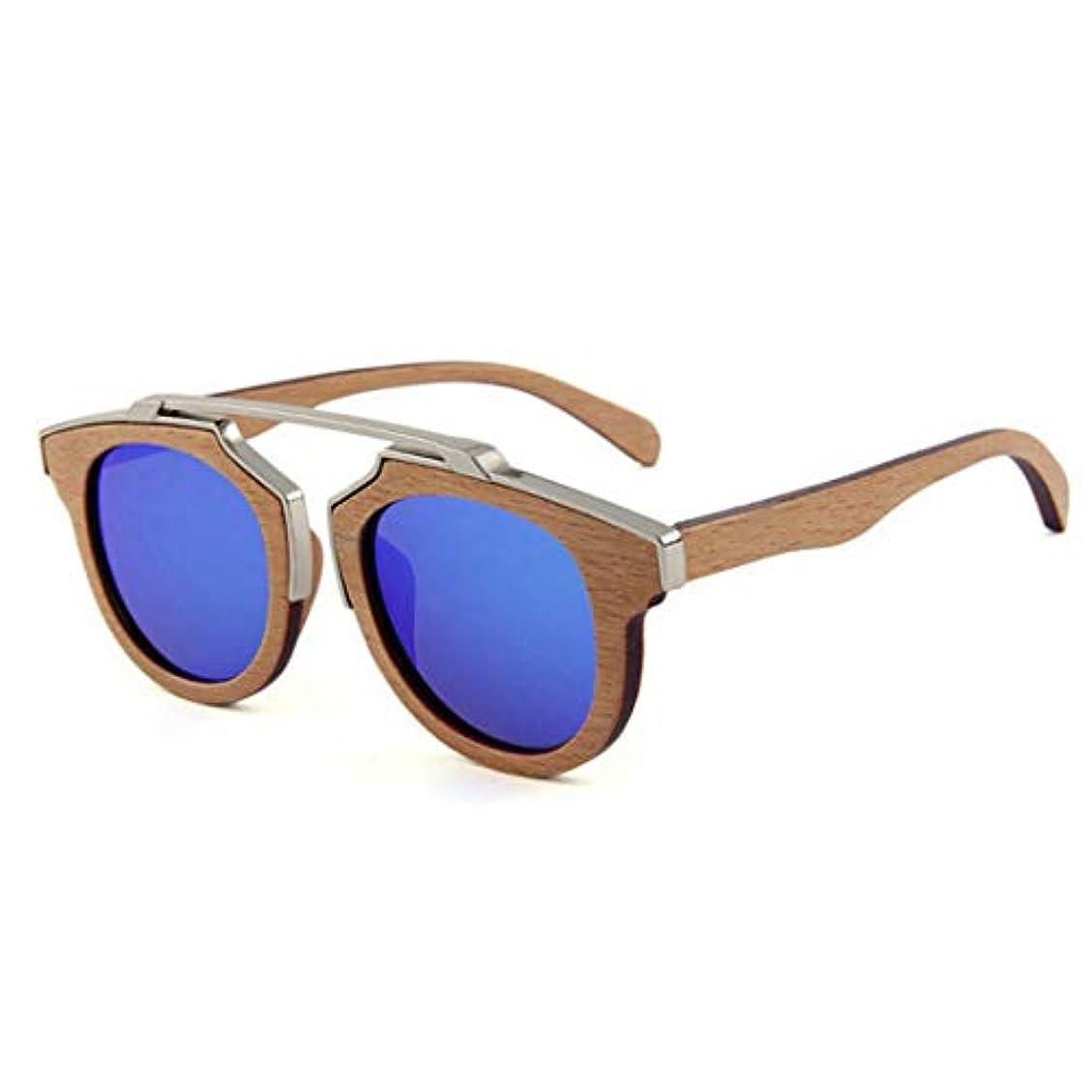 後ろ、背後、背面(部評論家祝うサングラス 女性の手作りの 金属装飾木製偏光サングラスUV保護ドライビングサングラスビーチサングラス。, ファッションサングラス