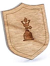 ガスストーブラペルピン、木製ピンとタイタック|素朴な、ミニマルGroomsmenギフト、ウェディングアクセサリー