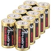 メモレックス・テレックス 単2形アルカリ乾電池 10本パック 【LR1415V10S】