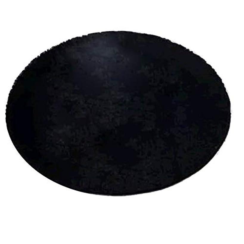 スナッチ警告起きる超柔らかい厚い屋内ラウンドモーデンエリア敷物パッド寝室リビングルームのリビングルームの敷物毛布家の装飾のためのフットクロス-ブラック60 * 60 cm