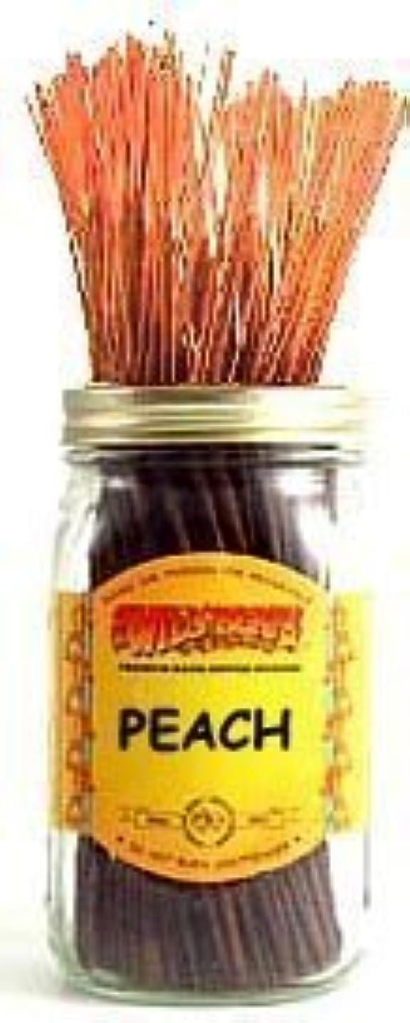 評価可能港名前Peach - 100 Wildberry Incense Sticks [並行輸入品]