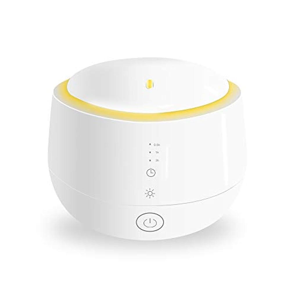 聴覚化合物フラスコSmiler+ 超音波式 アロマディフューザー 加湿器 ムードランプ 大容量 ガラスカバー 空焚き防止機能搭載 変色LED付き 低騒音 時間設定