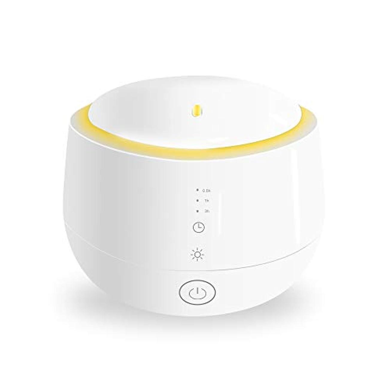 再び暴露する革命Smiler+ 超音波式 アロマディフューザー 加湿器 ムードランプ 大容量 ガラスカバー 空焚き防止機能搭載 変色LED付き 低騒音 時間設定