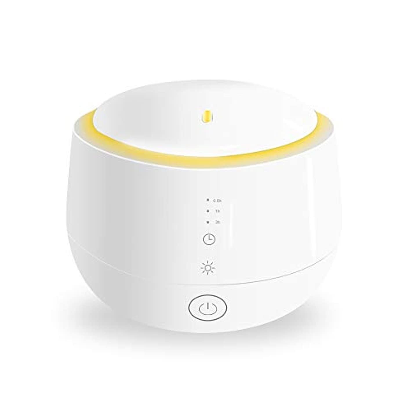 Smiler+ 超音波式 アロマディフューザー 加湿器 ムードランプ 大容量 ガラスカバー 空焚き防止機能搭載 変色LED付き 低騒音 時間設定