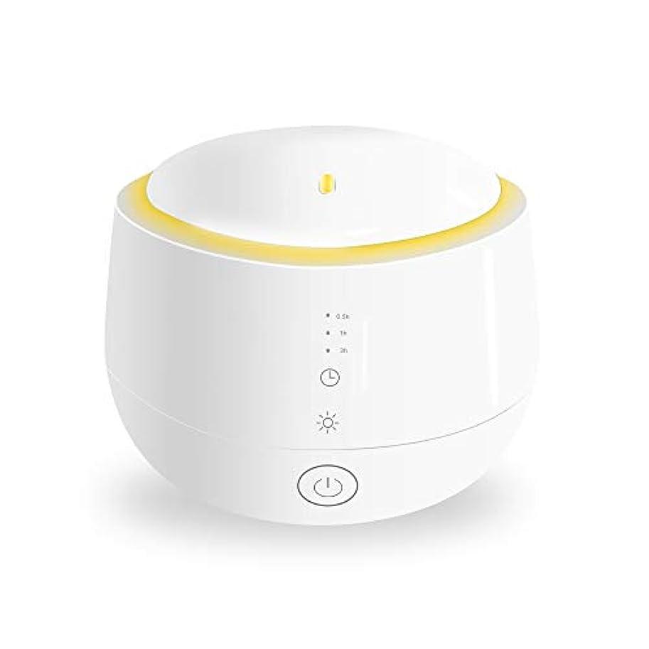 高度比較的圧倒的Smiler+ 超音波式 アロマディフューザー 加湿器 ムードランプ 大容量 ガラスカバー 空焚き防止機能搭載 変色LED付き 低騒音 時間設定