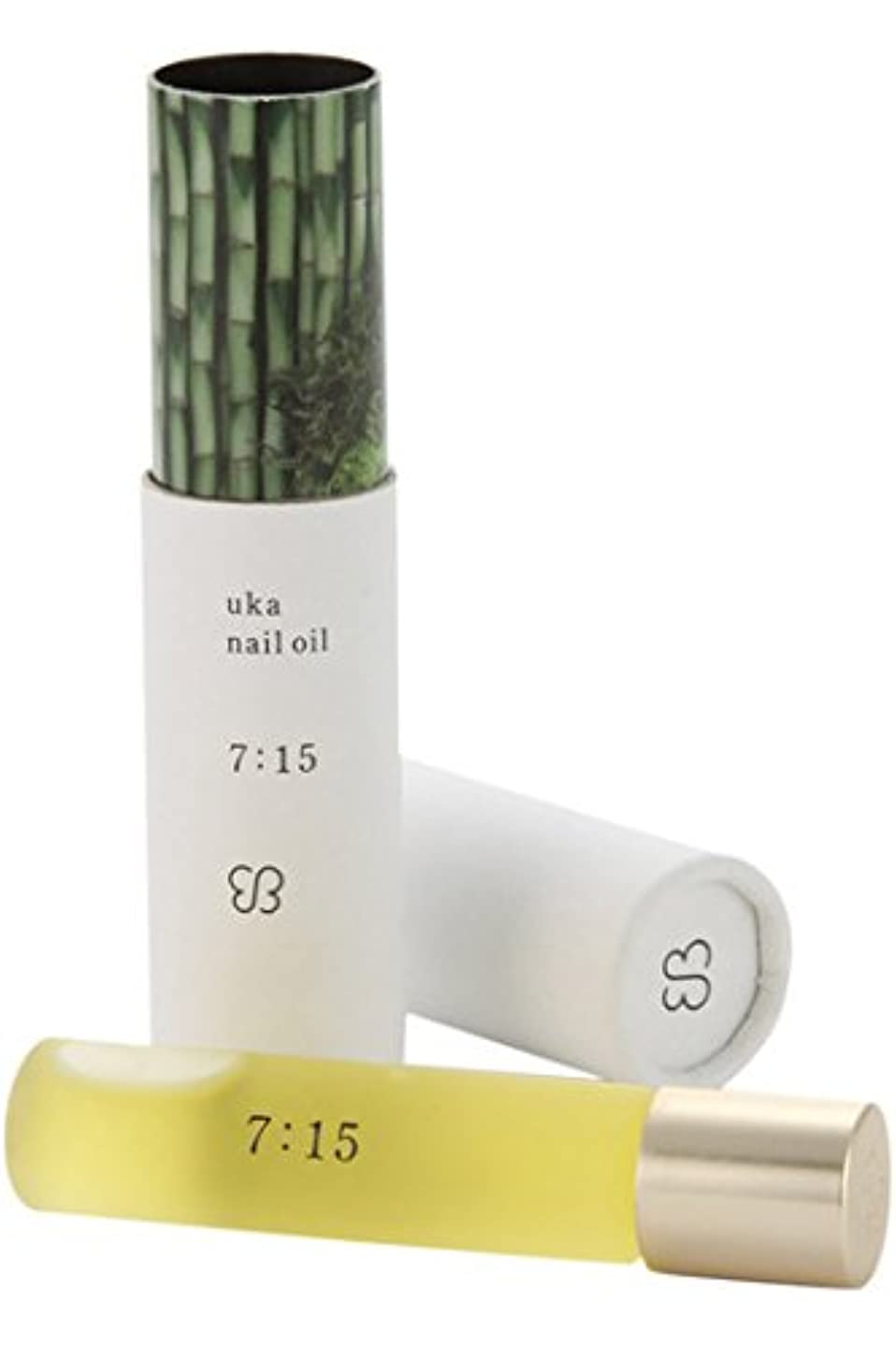 オーバーフロー円形の雑種ウカ(uka) ネイルオイル 7:15(ナナイチゴ)〈檜と柚子の香り〉 5ml