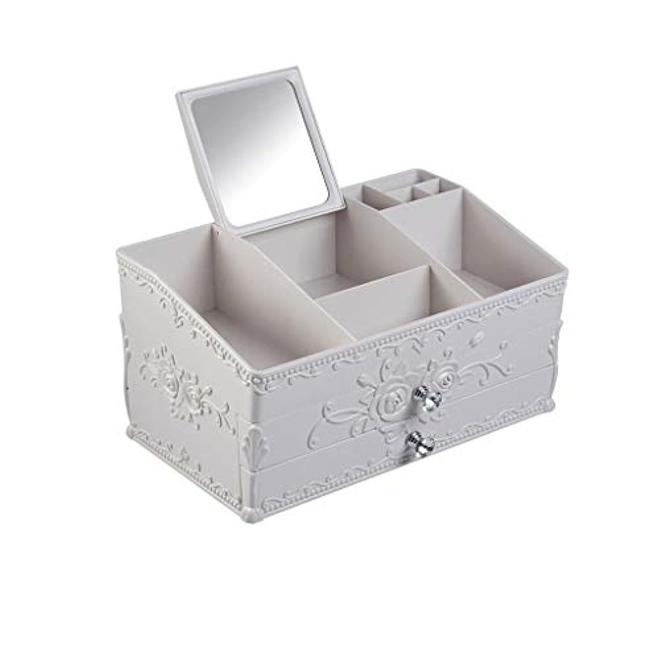 情熱ヒント下品ドレッシングテーブルデスクトップスキンケア収納ボックス寮プラスチックラック (Color : B)