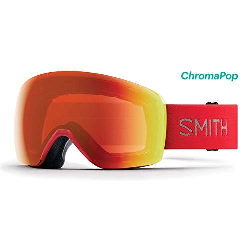 Smith Optics 2019 メンズ スカイライン アジアンフィット スキーゴーグル - ライズフレーム/クロマポップ エブリデイレッドミラーレンズ - SKY6CPERIE19-GA