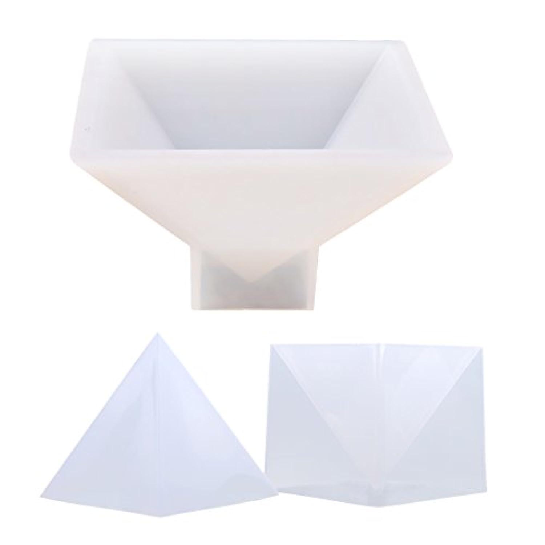 Fityle ペンダント作り 樹脂装飾 シリコンモールド 花/写真入り 手工芸品 DIYジュエリー ピラミッド形状 長期保存