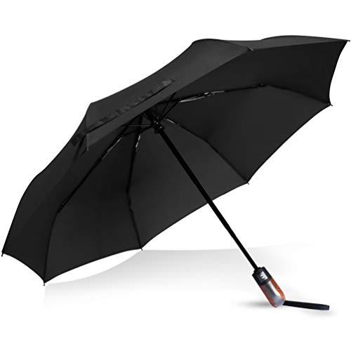 折り畳み傘 傘 メンズ 雨傘 軽量 自動開閉 ワンタッチ 折りたたみ傘 Teflon撥水加工 晴雨兼用 高強度グラスファイバー 8本骨 耐風 (ブラック)