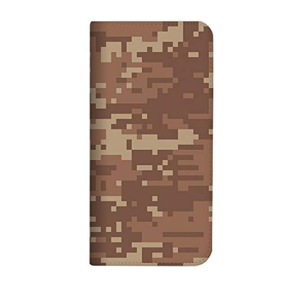 傷跡運河ふつうmitas iPhone XR ケース 手帳型 ベルトなし カモフラ カモフラージュ ブラウン (399) NB-0077-BR/iPhone XR