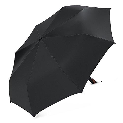PLEMO 折り畳み傘 自動開閉折りたたみ傘 【撥水性改良版 大型】 耐強風 丈夫 ブラック 115センチ UA_26