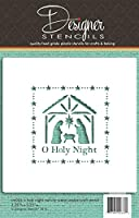 O Holy Night Nativity Scene Cookie and Craft Stencil CM034 by Designer Stencils by Designer Stencils