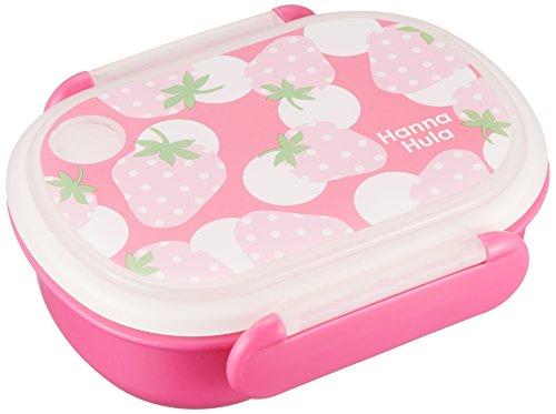 ハンナフラ(Hanna Hula) キッズ ランチボックス いちご ランチシリーズ お弁当箱 日本製 電子レンジOK お名前シール付き 子供用かわいいお弁当グッズ