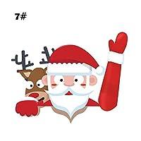 AlexGT リアワイパー デカール ステッカー クリスマス リア ワイパー ステッカー キュート サンタクロース ウェーブ フロントガラス ワイパー デカール タグ リアウィンドウ カーウィンドウ ステッカー デカール クリスマス サンタ デコレーション