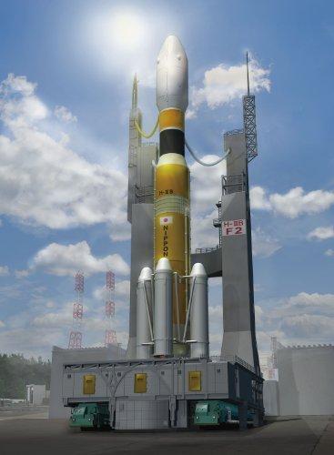青島文化教材社 1/350 スペースクラフトシリーズ No.9 H-IIBロケット&移動発射台 プラモデル