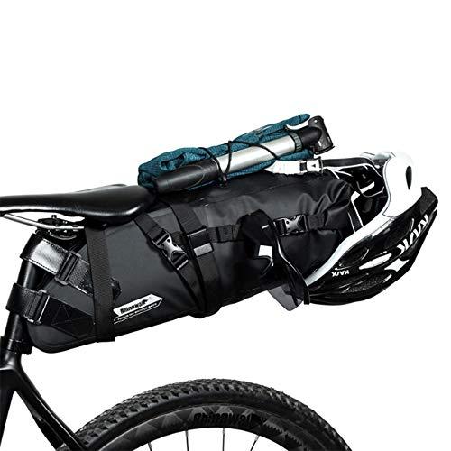 LSP-tech 自転車サドルバッグ リアバッグ 防水 大容量 TPU加工 (ネイビー)