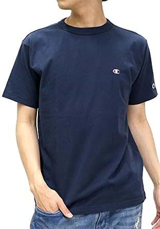 Champion(チャンピオン) Tシャツ 無地 胸 ワンポイント ブランド ロゴ マーク 半袖 メンズ ネイビー L