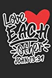 Love Each Other John 13:34: Dot matrix notebook for the journal or diary for women and men